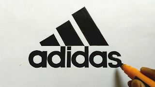 How to draw the Adidas logo very easily/ Logo Drawing 02
