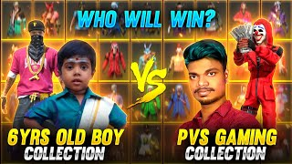 🤣6 Year Old Boy vs PVS GAMING😭!! Collection Battle With Tamilnadu Funny Small Kid 🤣 Tricks Tamil