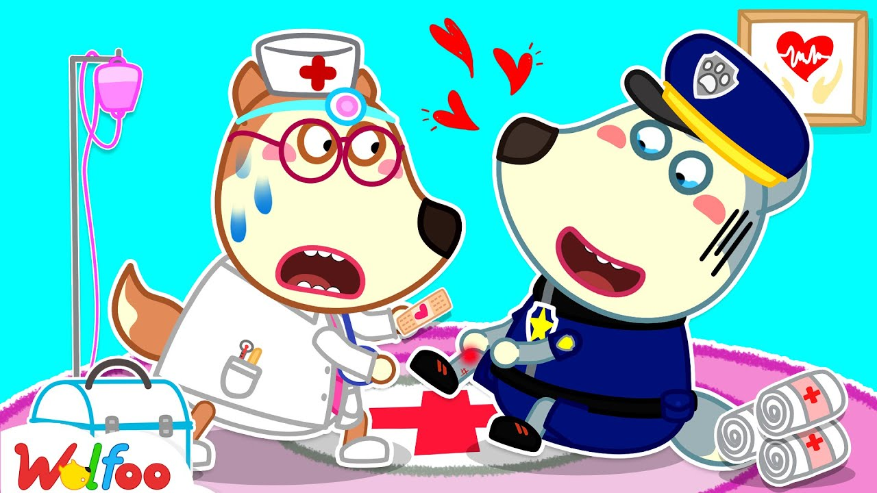 No No, Play Safe - Police Wolfoo Got a Boo Boo - Kids Pretend Play Jobs and Careers | Wolfoo Channel
