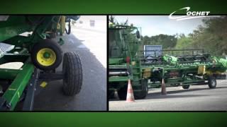 combine header trailers from cochet for john deere draper 12m20
