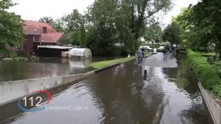 Wateroverlast na noodweer in Boxmeer
