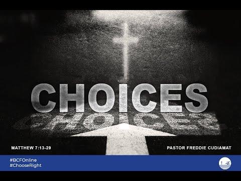 Ptr Alfredo Cudiamat CHOICES Bahrain Christian Fellowship 10-07-2020