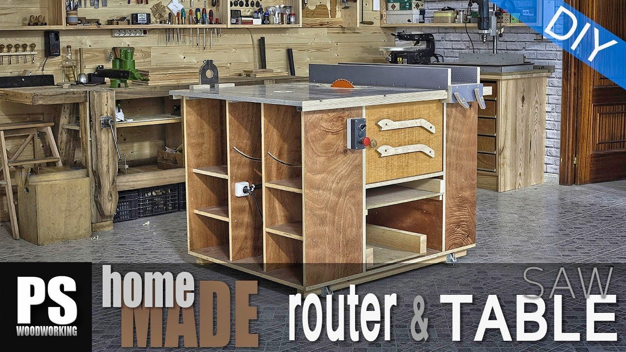 Homemade router table table saw youtube homemade router table table saw greentooth Choice Image