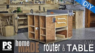 Home Made Router Table & Table Saw Cabinet / Fresadora- Circular De Mesa
