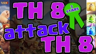 Clash of Clans: TH8 attack TH8 GoWiPe 3 Stars