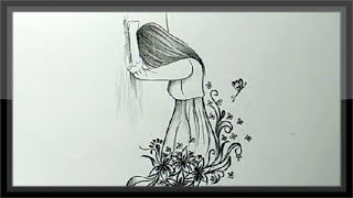 pencil sad drawings drawing cool easy paintingvalley