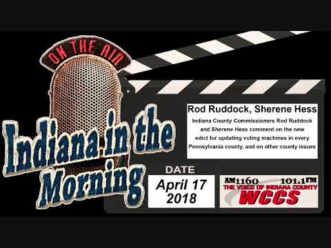 Indiana in the Morning Interview: Rod Ruddock and Sherene Hess (4-17-18)