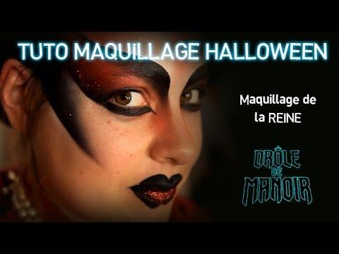 Tuto Maquillage De Reine Maléfique Maquillage Halloween Drole De