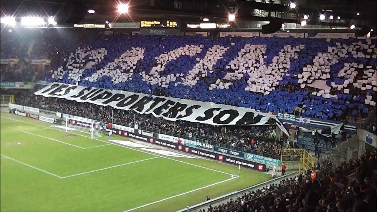 12d04fe02b3 Ultra Boys 90 Tifo Rc Strasbourg vs As Monaco 2017 2018 L1 - YouTube