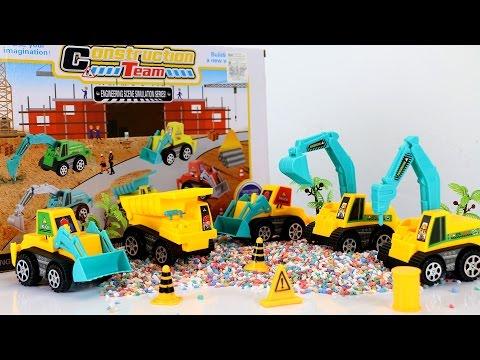 รีวิวของเล่น ชุดรถก่อสร้าง รถแม็คโคร construction team