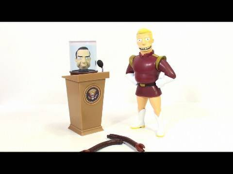 Video Review of the Toynami, Futurama Series 2 figure; Zapp Brannigan