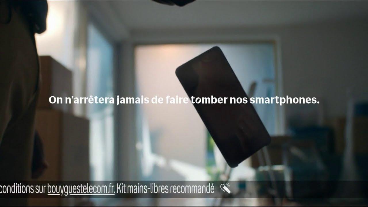 """Musique pub Bouygues Telecom – solutions smartphone durable """"on arrêtera jamais de faire tomber nos…""""  2021"""