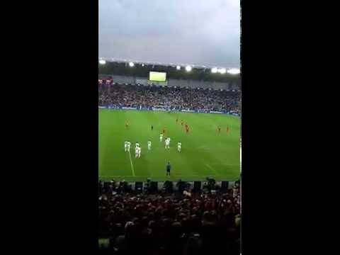 Cristiano Ronaldo goal Real Madrid 2-0 Sevilla UEFA SUPER CUP fans view