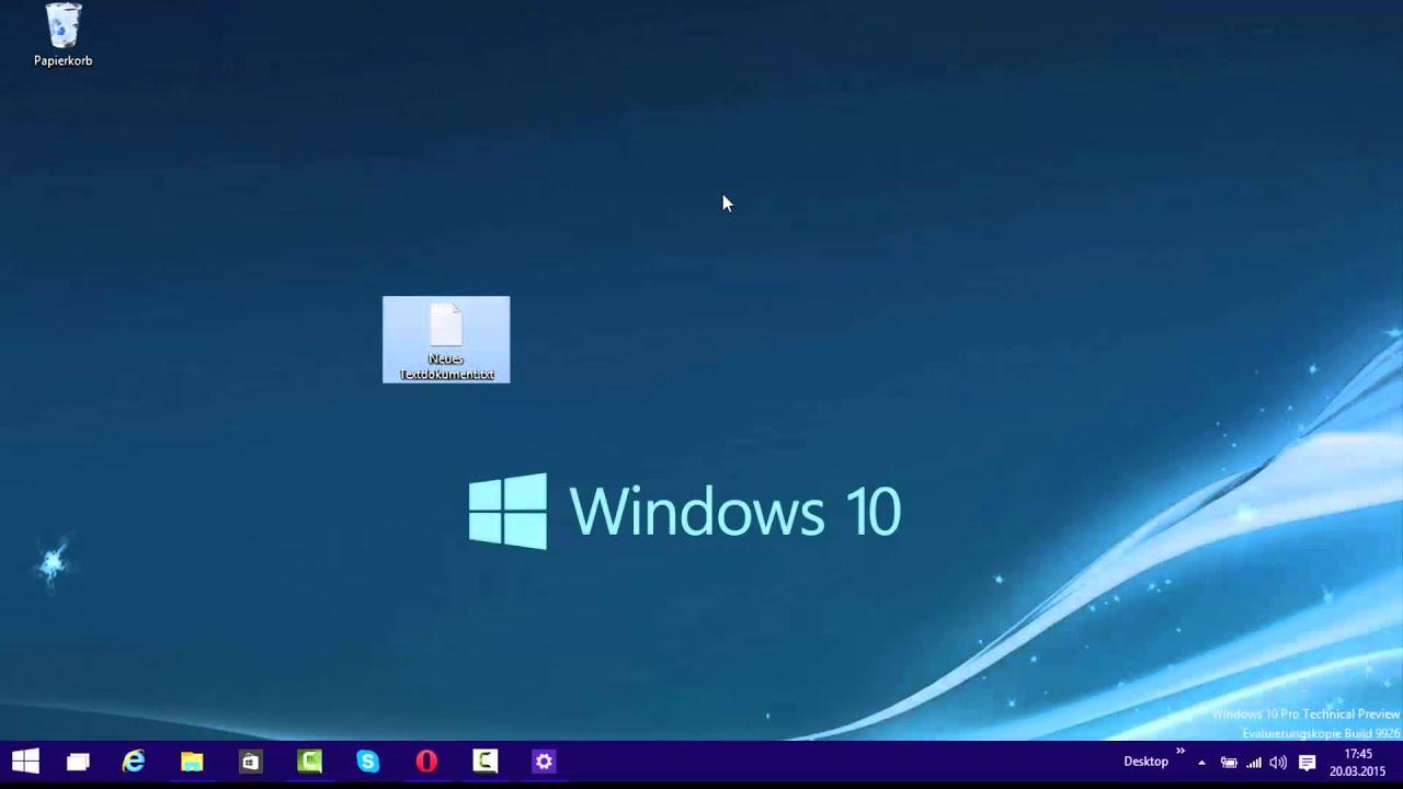 Win 10 Desktop Symbole ändern