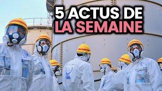 L'eau radioactive de Fukushima bientôt dans l'océan, reconnaissance faciale... 5 actus de la semaine
