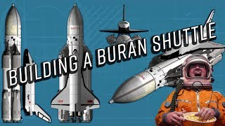 Building and flying a Buran Space Shuttle (Kerbal Space Program)