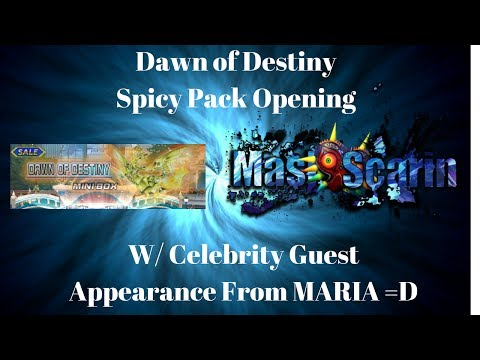 Dawn of Destiny- Spicy Pack Opening w/ Celebrity Guest Star Maria! | YuGiOh Duel Links w/ MasKScarin