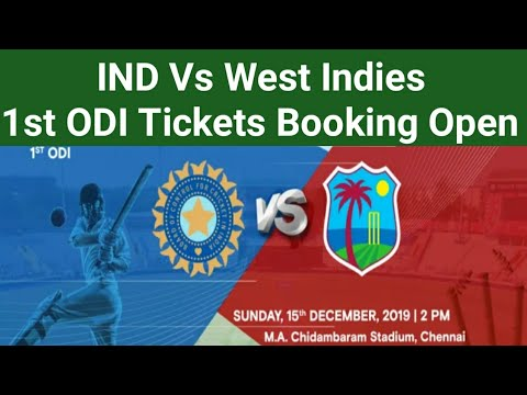 How To Book India Vs West Indies 1st ODI Match Tickets Online