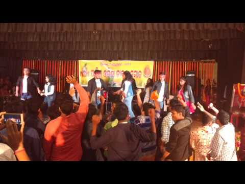 Nuakhai bhet ghat 2016 dance of SCB medical college, cuttack students at Sarala bhawan cuttack