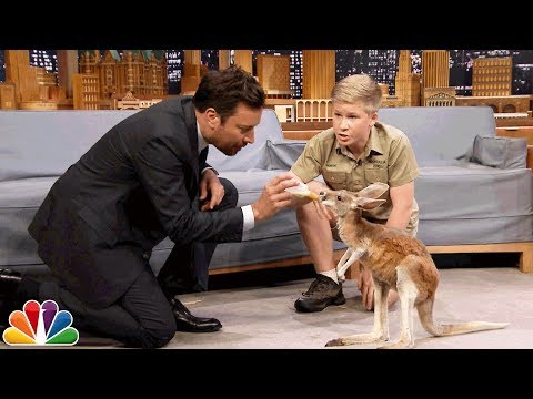Robert Irwin and Jimmy Feed a Baby Kangaroo