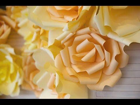 Цветы из бумаги! Мастер-класс (для свадьбы и др.) Giant paper flowers
