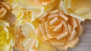 Цветы из бумаги! Мастер-класс (для свадьбы и др.) Giant paper flowers(Пришлось удалить музыкальную композицию (из-за авторских прав), чтобы видео было доступным всем ;) сорри;)..., 2015-03-24T12:35:35.000Z)