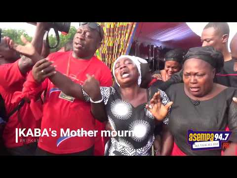 KABA's mother wails as her only child goes home