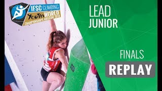 IFSC Youth World Championships Moscow 2018 - Lead -  Finals - Junior