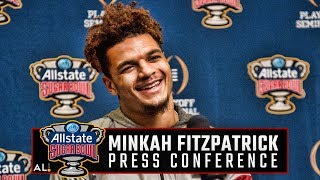 Alabama DB Minkah Fitzpatrick talks to the media ahead of facing Clemson in a third straight CFP