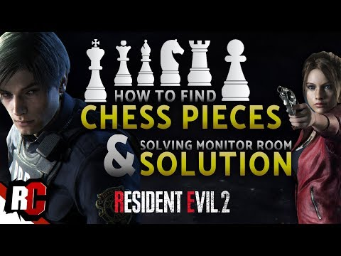 Resident Evil 2 | Finding All Chess Plugs + Solving Monitor Room Chess  Puzzle (1st+2nd run)