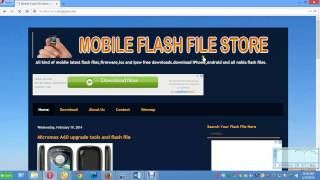 How to download mobile flash file and firmware latest website