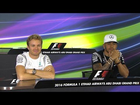 Hamilton And Rosberg On Their F1 Title Showdown | Abu Dhabi Grand Prix 2016