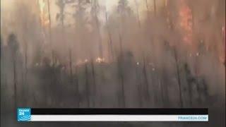 استمرار حرائق الغابات في مقاطعة ألبرتا الكندية