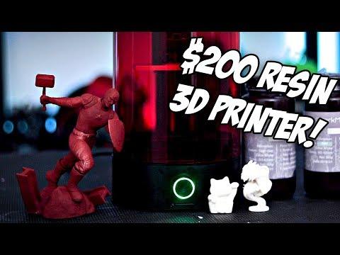 Unboxing & Testing $200 Resin 3D Printer | Sparkmaker SLA Resin 3D Printer