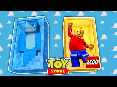 Minecraft TOYS - A HUGE ACCIDENT IN THE TOY STORE w/ Little Kelly and Tiny Turtle