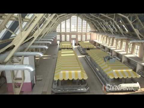 Riga Central Market 3D Visualization by IDYNAMIC