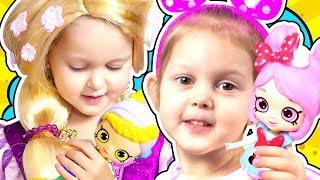 КУКОЛЬНЫЙ ДОМ Шопкинс для Минни Маус Рапунцель и Белль Сдаются комнаты для Принцесс Дисней Disney