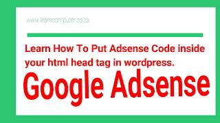 How to put Adsense Code Inside the head tags