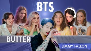BTS: Butter   The Tonight Show Starring Jimmy Fallon   Spanish college students REACTION (ENG SUB)