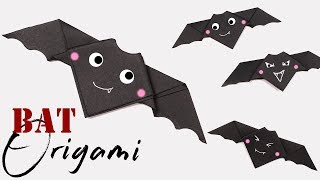 Origami Easy Animal Bat - Cute Hallloween DIY Decor
