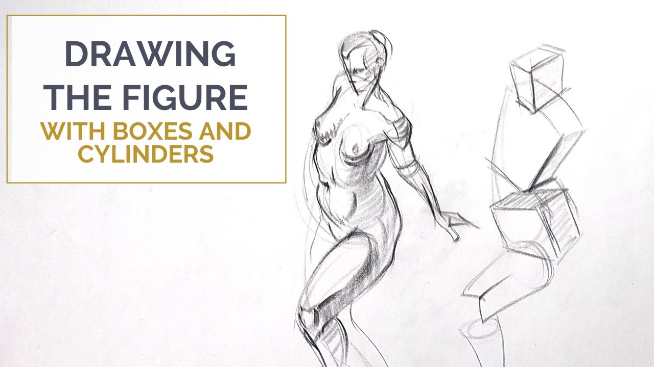 Drawing The Figure With Boxes And Cylinders