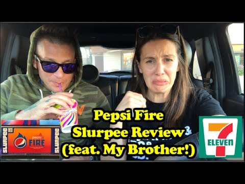 Pepsi Fire Slurpee Review (feat. My Brother!)