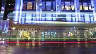 Christmas Lights + Window displays in London Selfridges