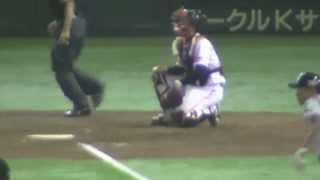 【東京D】ビジター中日最終回に奪い取った唯一の得点はやっぱり福田永将の一打だった。 2015年4月28日(火) thumbnail