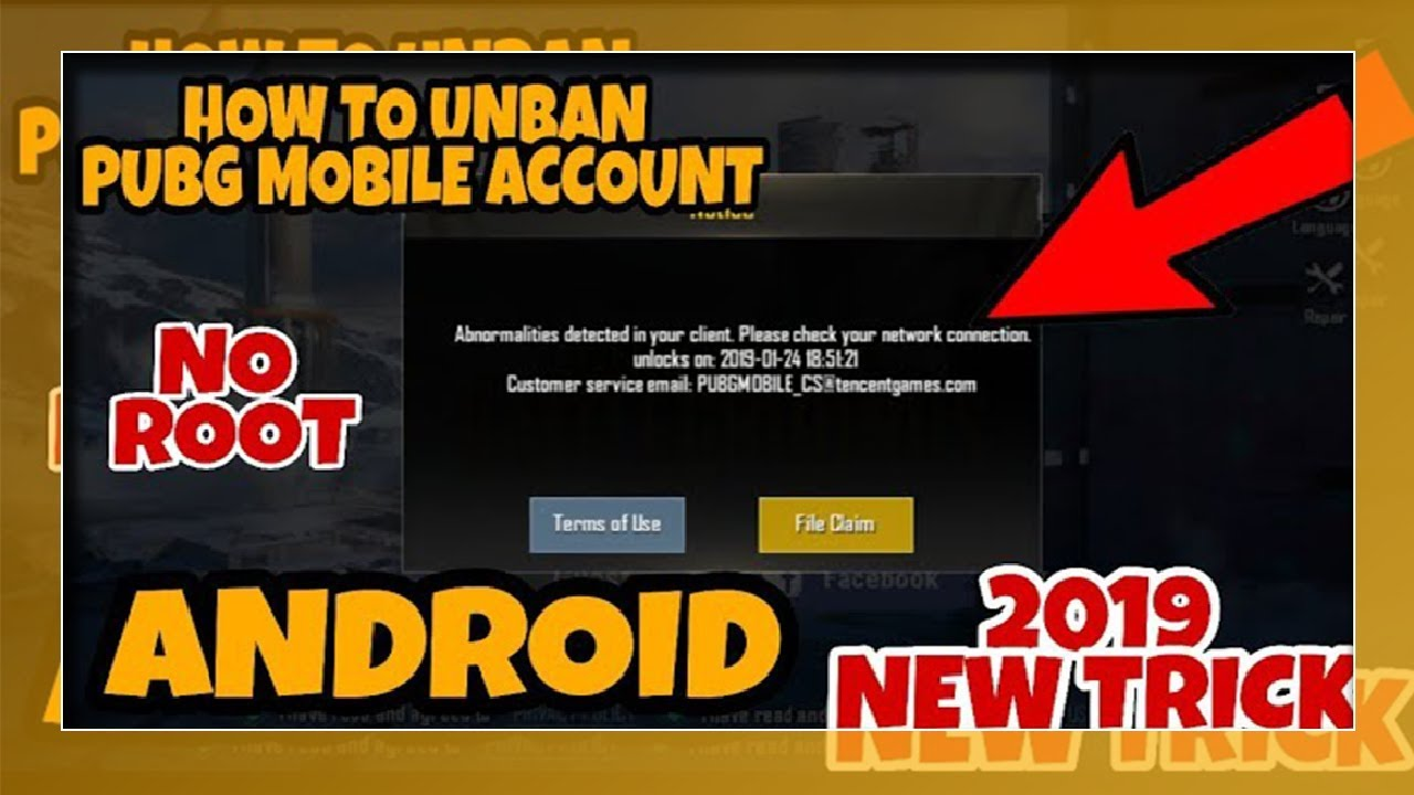 (No ROOT) HOW TO UNBAN PUBG MOBILE ACCOUNT NO ROOT 2019 NEW TRICK ANDROID  || ReDX Aman