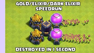LOOTING SPEEDRUN | Clash of clans