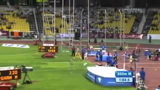 Давид Рудиша 800м - 1.43,10 - Бриллиантовая лига 2012 - Доха