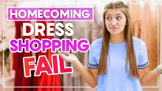HOMECOMiNG DRESS SHOPPiNG FAiL!?