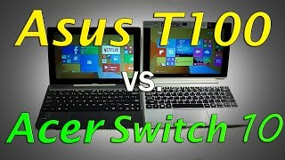 Acer Switch 10 vs Asus T100