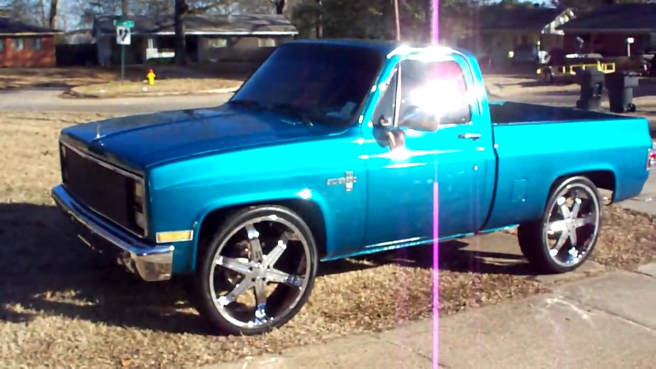 Pickup 86 chevy pickup : 86 SHORTBED CHEVY ON 26'S - YouTube